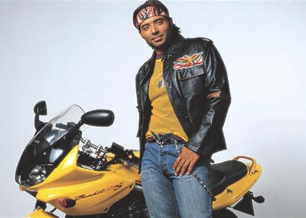 Uday Chopra with his Suzuki Bandit 1250S