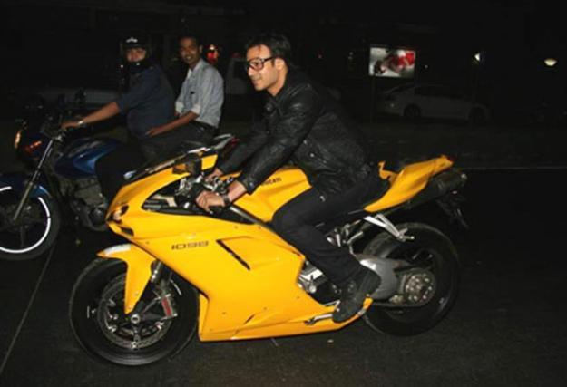 Viveik Oberoi on his Ducati 1098