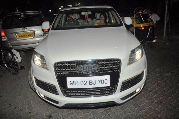 bipasha Basu in her Audi Q7