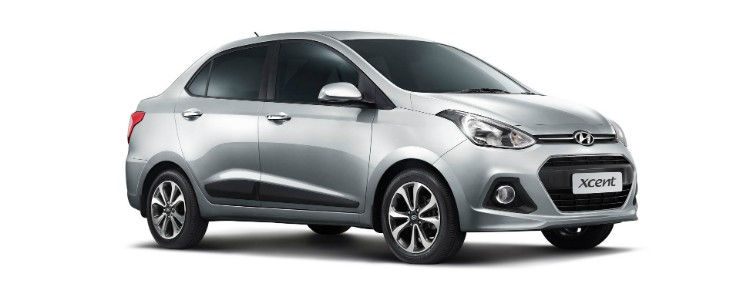 Hyundai Xcent front three quarter
