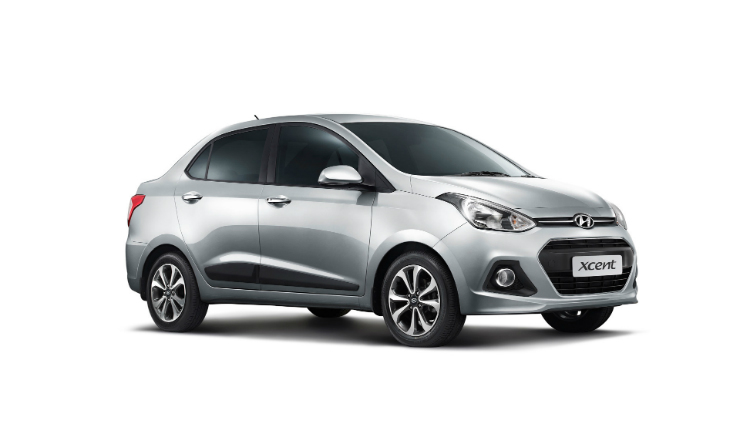 Hyundai Xcent front three quarter