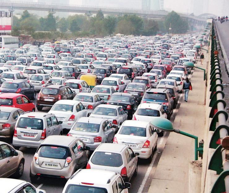 A scene at the Delhi-Gurgaon Toll Plaza