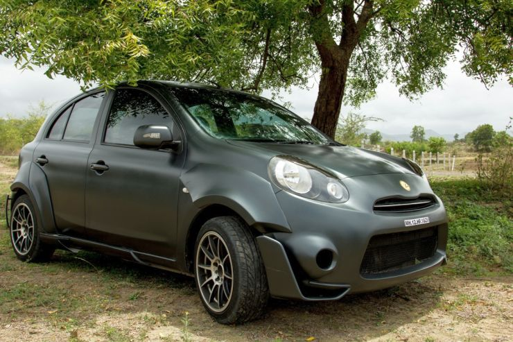 Autologue Design's Nissan Micra with wide body kit