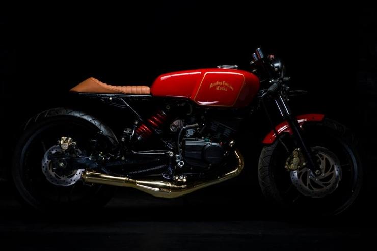 Bombay Custom Works' Yamaha RX135 based cafe racer custom 1