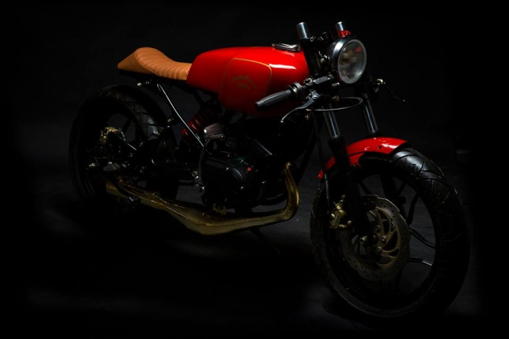 Bombay Custom Works' Yamaha RX135 based cafe racer custom 2