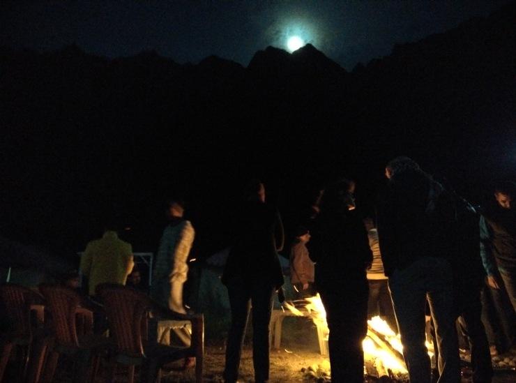 Day 3 Bonfire at Jispa