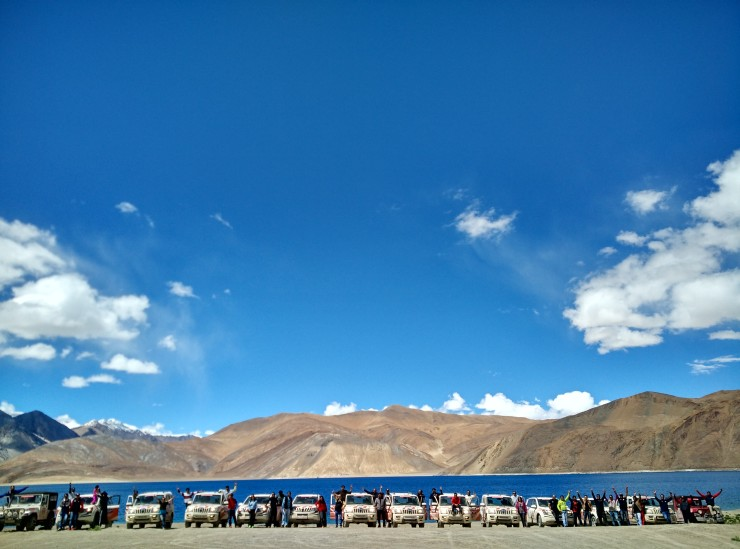 Day 7 The convoy at Pangong Tso