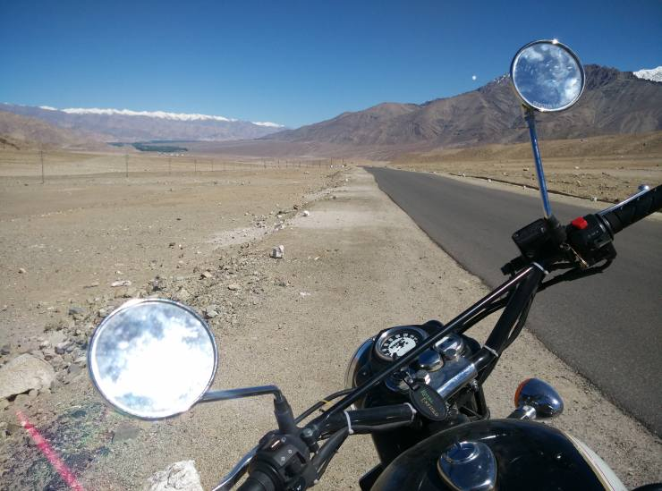Day 8 Riding the lovely roads around Leh
