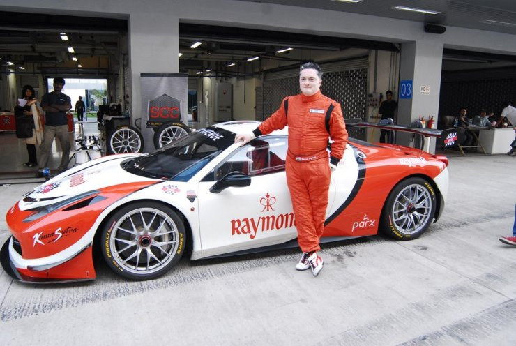 Gautam Singhania with his Ferrari F430