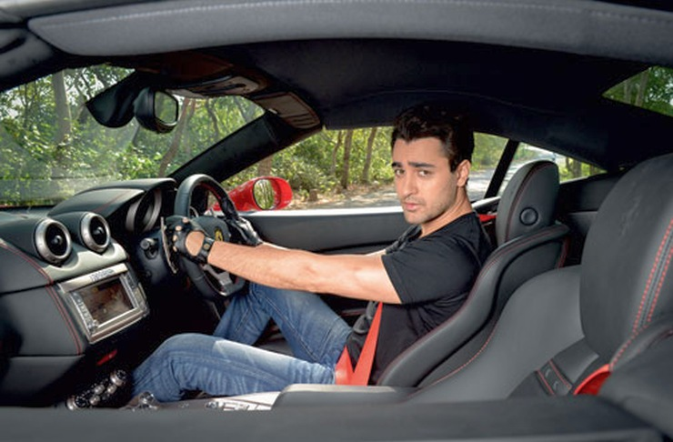 Imran Khan with his Ferrari F430