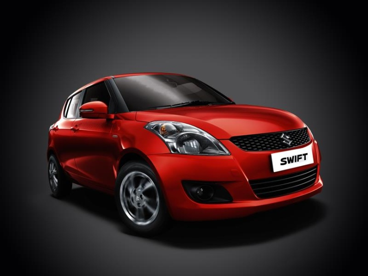 Maruti Swift in Red 1