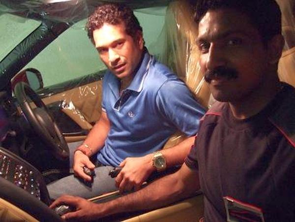 Sachin Tendukar in his Nissan GT-R 1