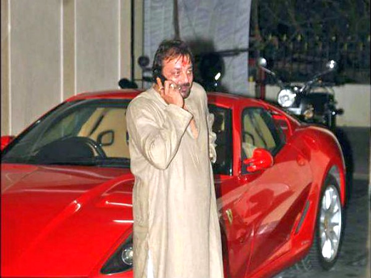 Sanjay Dutt with his Ferrari 599 GTB