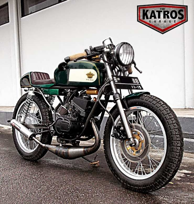 The Katros' Yamaha RX135 Cafe Racer Custom 1