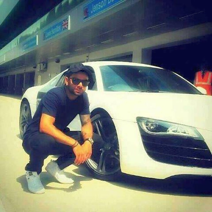Virat Kohli with his Audi R8 on the BIC
