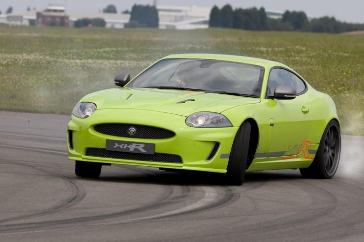 Jaguar XKR sideways