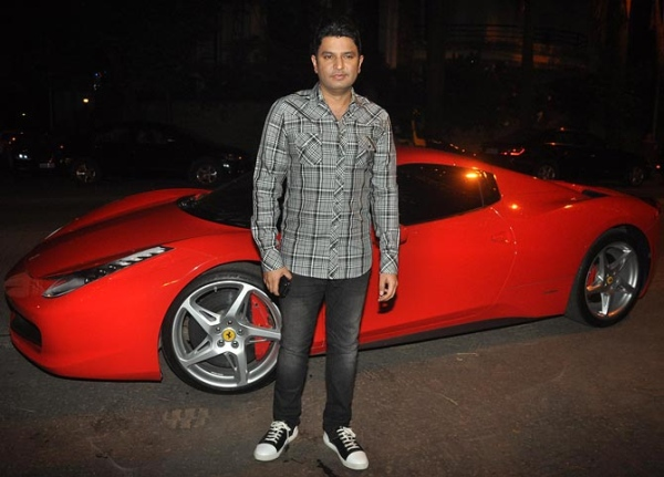 Bhushan Kumar with his Ferrari 458