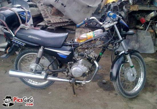 Yamaha YBX fuel tank jugaad
