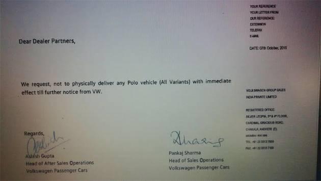 Volkswagen Polo letter