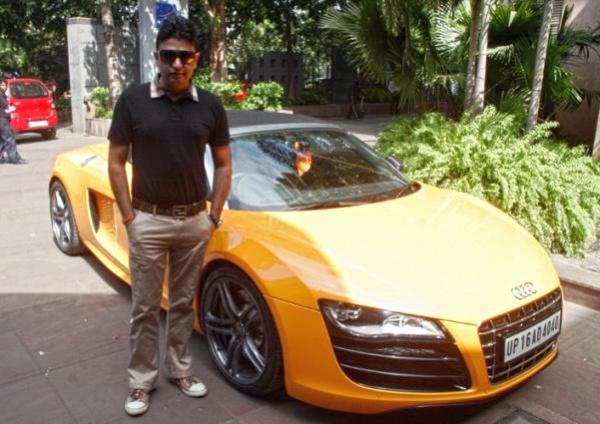 Bhushan Kumar with his Audi R8 Spyder