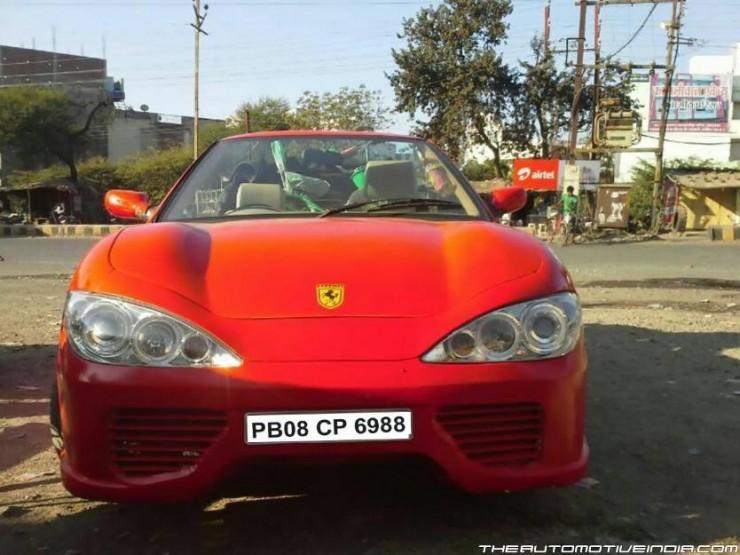 Maruti-Esteem-Ferrari-Modified