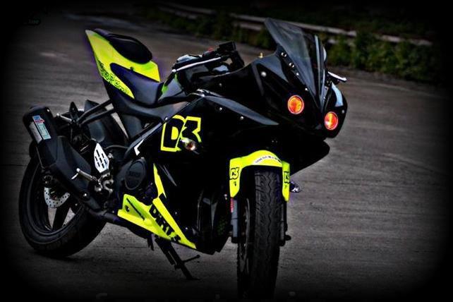 R15 V2 Modified With Projector Lights 5 Yamaha R15 custom ve...