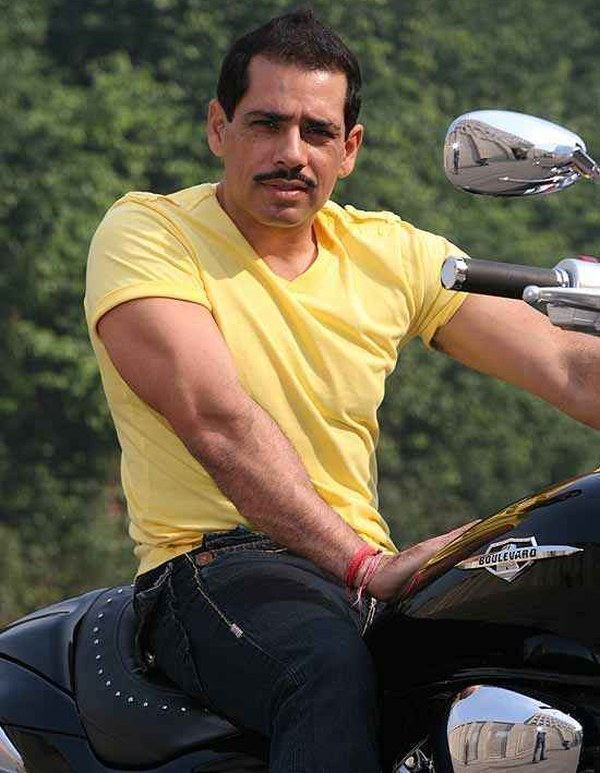 Robert Vadra on the Suzuki Boulevard Cruiser 1800 1