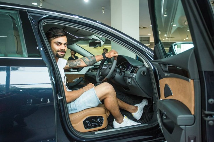 Virat Kohli with his new Audi A8L W12 Quattro Luxury Saloon 10