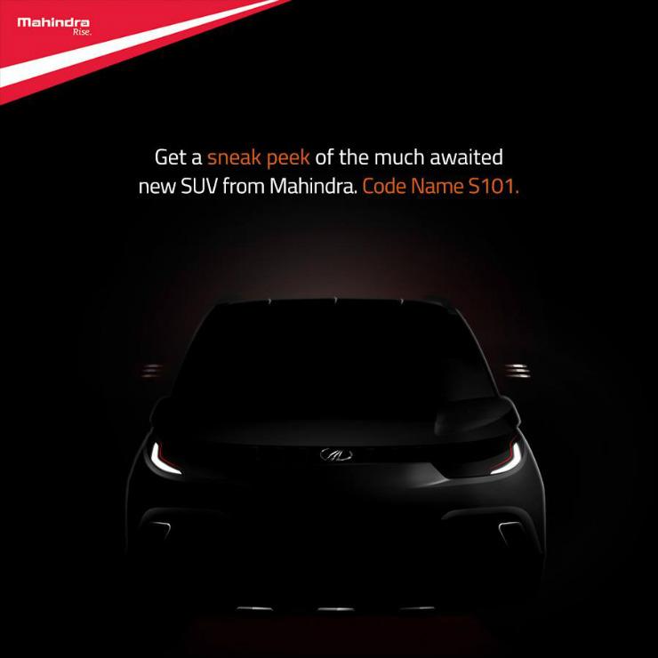 Mahindra teases upcoming KUV100 (codenamed S101) crossover