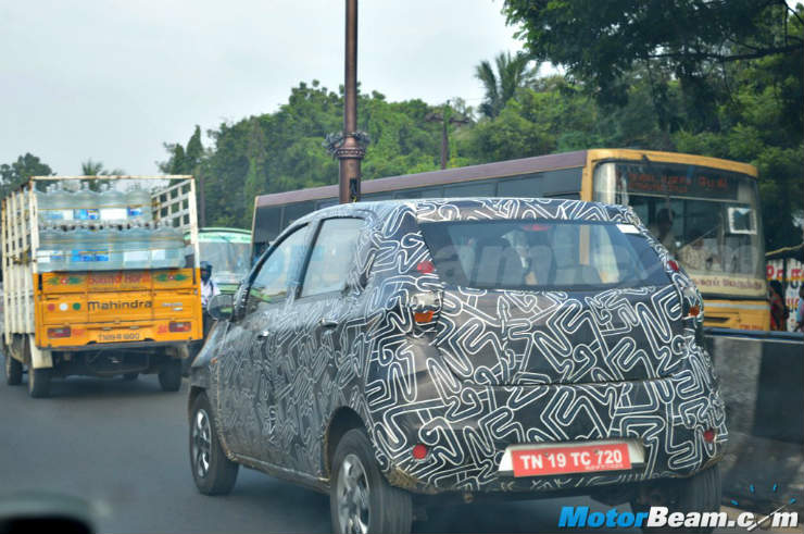 Datsun-Redi-GO-camouflaged-rear-spied-in-Chennai