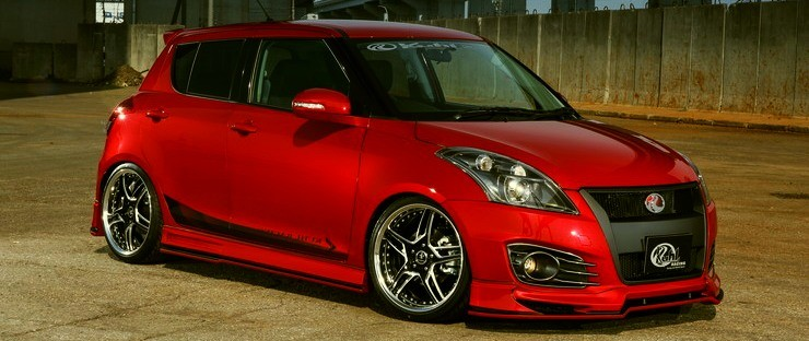 Maruti Swift with body kit 2