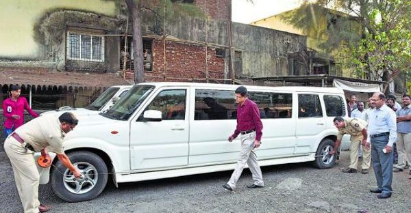 RTO seize modified Scorpio limousine