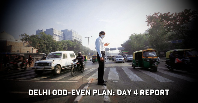 Even-odd car rule – Day-by-day report