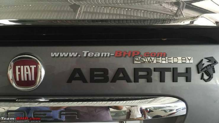 Fiat Linea Powered by Abarth spotted logo