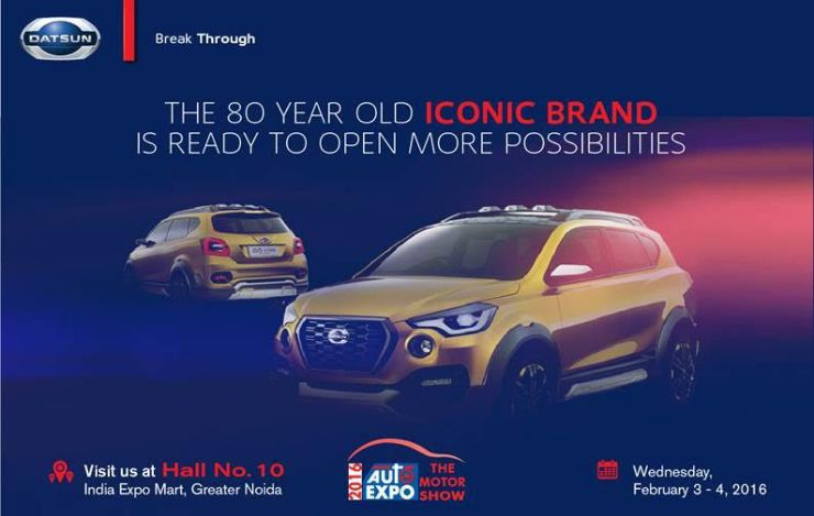 Datsun Go-Cross coming to the 2016 Auto Expo