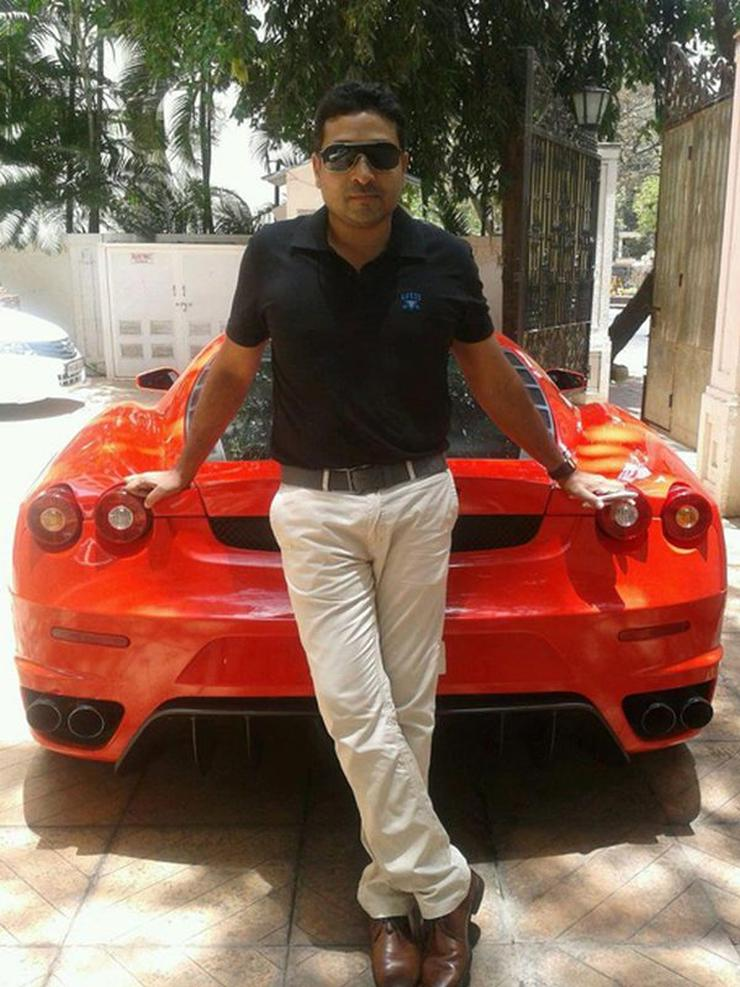 Mohammed Nisham with his Ferrari