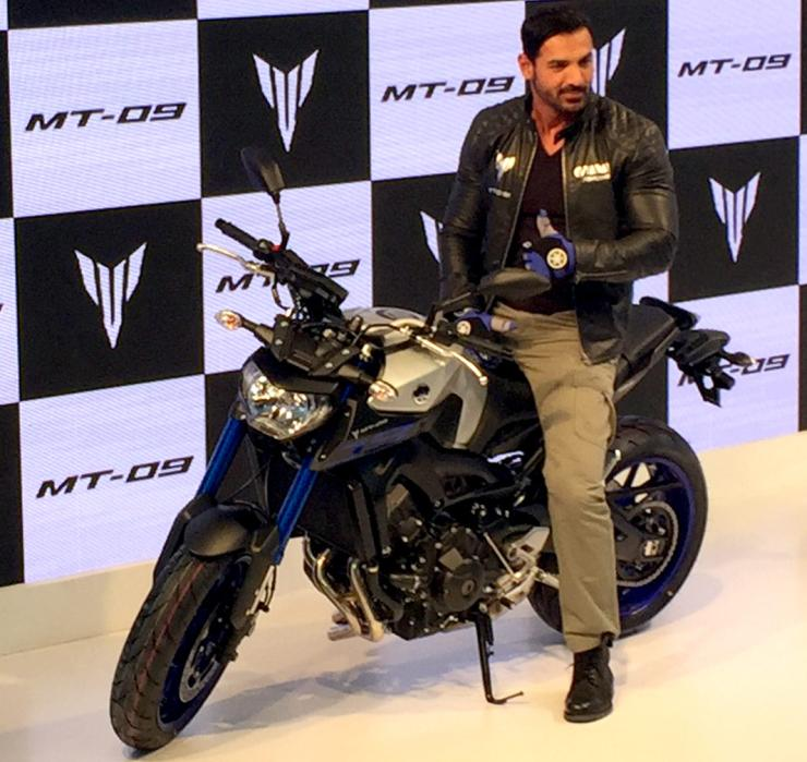 John Abraham on the Yamaha MT-09
