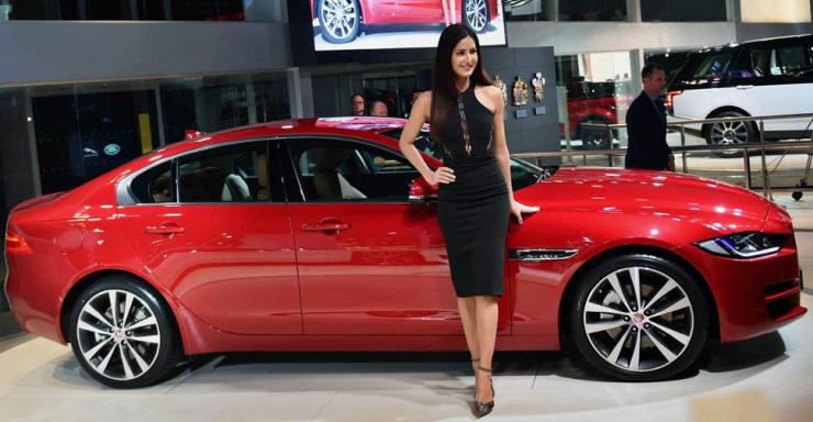 Katrina Kaif with the Jaguar XE