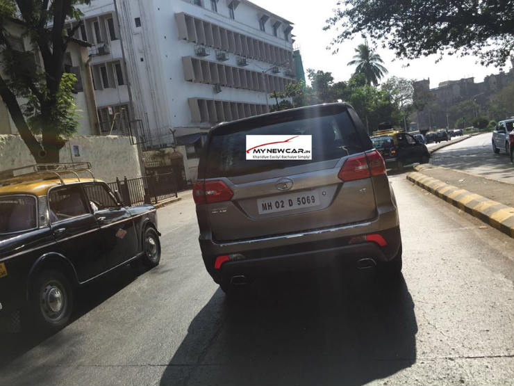 Tata Hexa Rear Spotted