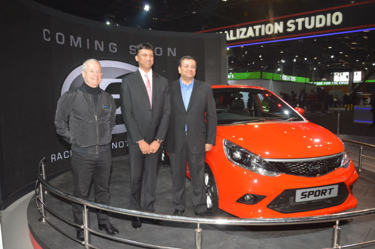The SPORT showcase at Tata Motors Smart Hub in Auto Expo 2016