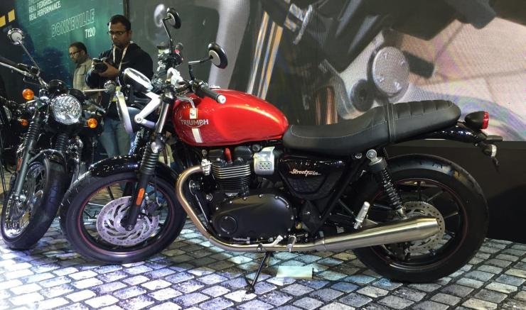 The new Triumph Bonneville retro motorcycle range is now in India