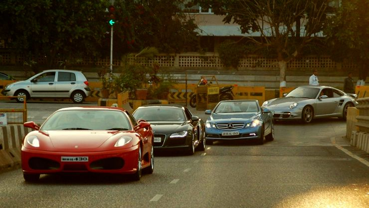 A group of supercars