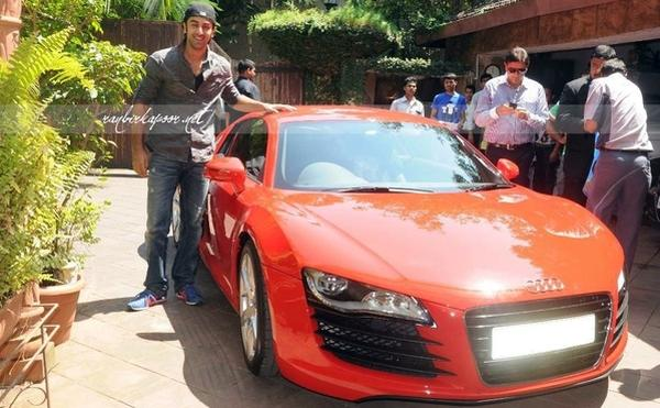 Ranbir Kapoor with his Audi R8