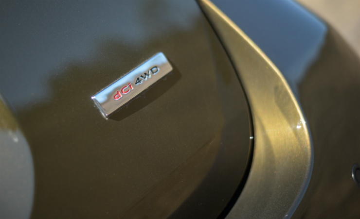 Renault Duster Facelift AWD Badge