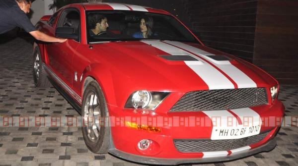 Saif Ali Khan in his Ford Mustang