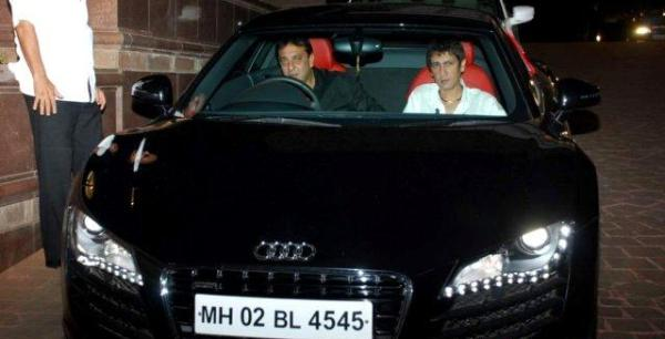 Sanjay Dutt in his Audi R8