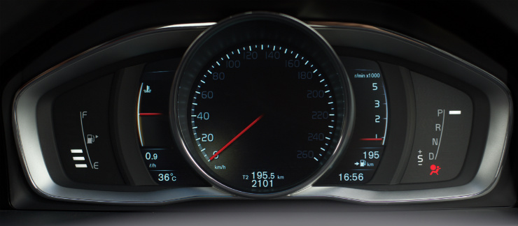 Volvo S60 Cross Country cluster-elegance