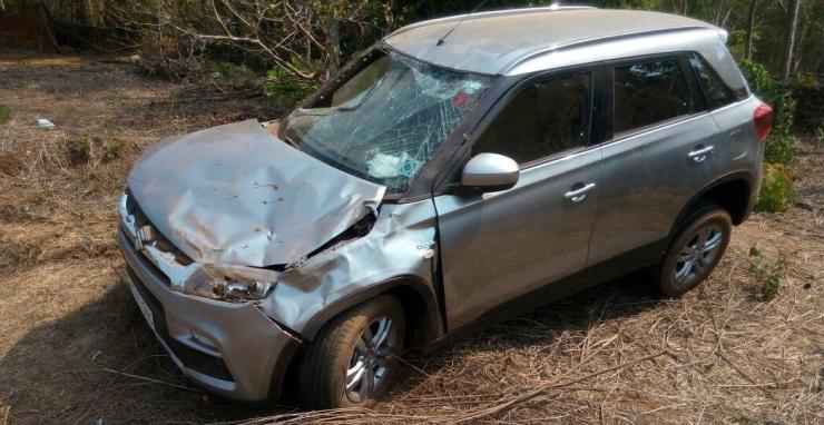 Maruti Vitara Brezza Crash 2