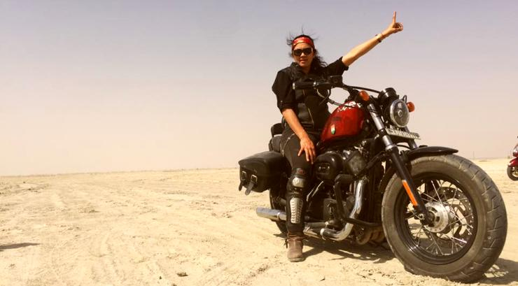 Noted Indian woman biker dies in a Harley crash