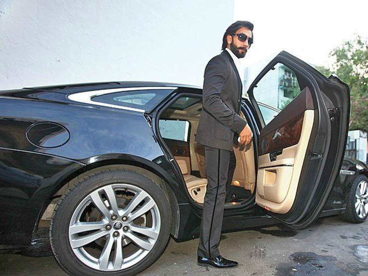 Ranveer-Singh-in-his-Jaguar-XJ-Luxury-Saloon